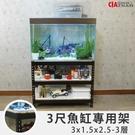 3呎缸架 消光黑魚缸架「空間特工」水族箱 魚缸底櫃 濾水器 收納櫃 免螺絲角鋼 鐵架 FTB31525