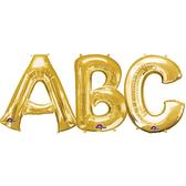 16吋金色字母鋁箔氣球(不含氣)-A到Z