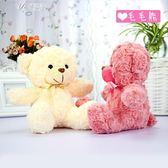 可愛毛絨玩具玩偶婚慶禮品禮物兒童生日小熊公仔布娃娃禮物伊芙莎