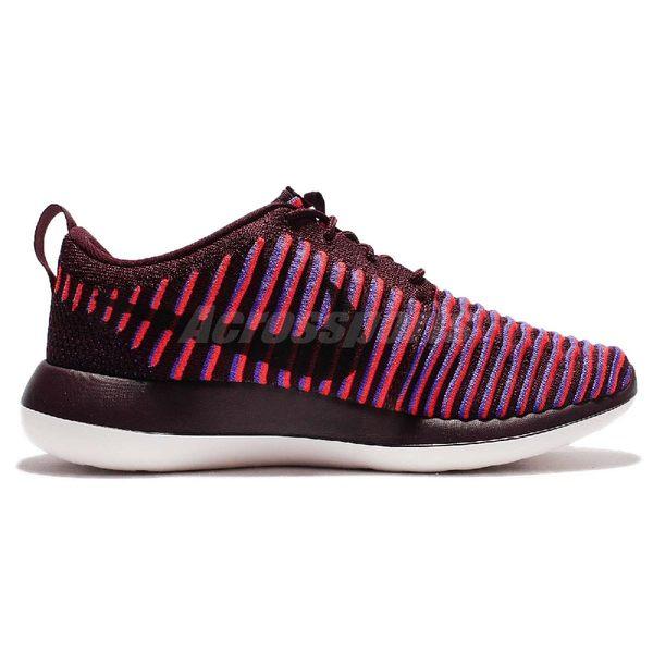 【四折特賣】 Nike 休閒慢跑鞋 Wmns Roshe Two Flyknit 紅 紫 2代 白底 Rosherun 女鞋【PUMP306】 844929-601