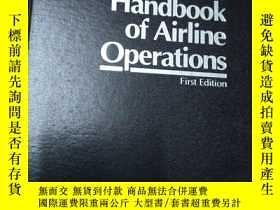 二手書博民逛書店Handbook罕見of Airline Operations、