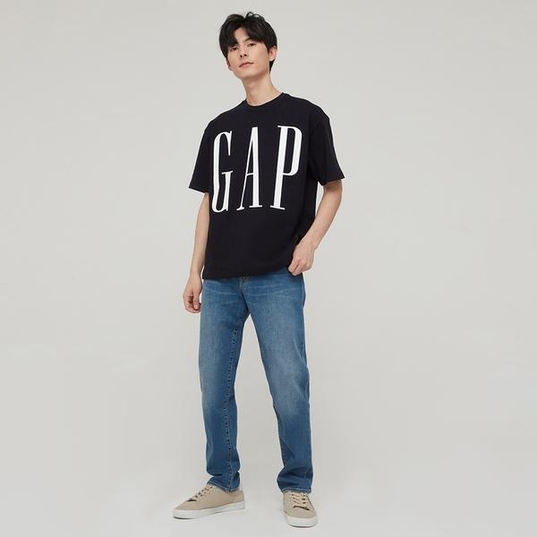 Gap男裝 Logo純棉質感厚磅短袖T恤 795473-海軍藍