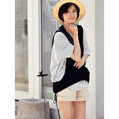 棉質襯衫女 蝙蝠袖襯衫女 拼接假兩件上衣-夢想家-C5235C-0719