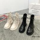 馬丁靴女潮英倫風瘦瘦單靴短靴秋冬【時尚大...