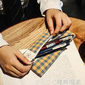 文具袋學院風大容量日式收納格紋 筆袋女ins 學生文具筆袋 時尚潮流
