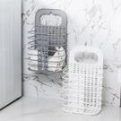 [拉拉百貨]可壁掛式折疊衣籃 髒衣收納籃 附掛勾 洗衣籃 收納籃 衣物籃 壁掛收納籃