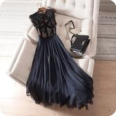 洋裝-無袖優雅氣質蕾絲拼接修身連身裙73sz3【時尚巴黎】
