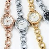 石英錶-鑲鑽環形高貴手鍊造型女手錶4色71r13【時尚巴黎】