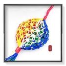 【Ruby工作坊】B 3-5CM五色線網吊飾(加持祈福) 水晶球專用網 紅磨坊