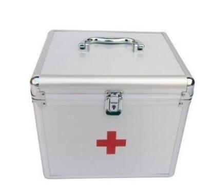 12寸醫藥箱  鋁合金急救箱【藍星居家】