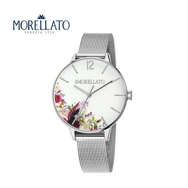 【MORELLATO】義大利百年品牌 Ninfa 女士銀色不銹鋼石英手錶 36mm