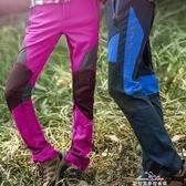 沖鋒褲男女冬季加絨修身加厚防水防風戶外褲軟殼褲登山褲勘探基地 交換禮物