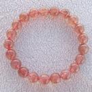【歡喜心珠寶】【天然巴西草莓晶圓珠9mm手鍊】21顆.重18g「附保証書」招桃花、助好姻緣