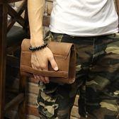 男包 定型瘋馬皮新款韓版男士手包休閑手拿包軟皮手抓包夾包