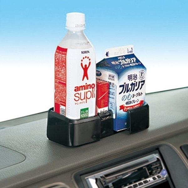 車之嚴選 cars_go 汽車用品【W364】日本 SEIWA 儀表板黏貼式滑動擴展收納置物盒 飲料架 杯架