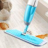 噴水拖把免手洗家用平板瓷磚地拖把兩用旋轉替換布wy