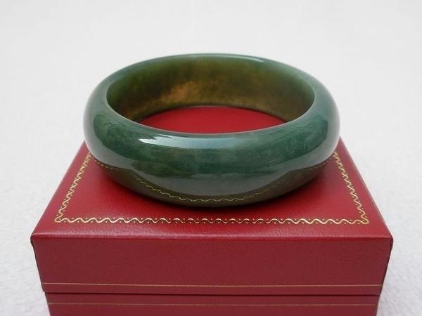 【歡喜心珠寶】【天然海草玉手鐲】鐲圍18.8圍手環「附保証書」海草玉為加強親和力之最佳寶石