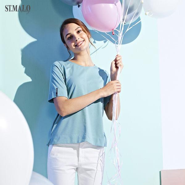 【ST.MALO】當代台灣原創銀纖維機能女上衣-1928WT-淺藍綠