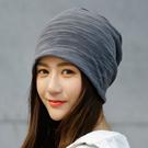 帽子 男士 春夏季薄款棉套頭帽光頭堆堆 韓版潮人運動包頭帽健身 店慶降價