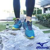 MIZUNO WAVE RIDER 20 暢銷款第20代 GORE-TEX 慢跑鞋 藍綠 J1GC177405 男鞋