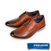 【PEGADA】巴西名品綁帶德比休閒紳士鞋  咖啡(121954-BR)