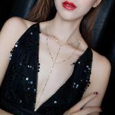 新年85折購 項鍊歐美性感鎖骨鍊雙層金屬短款項鍊個性脖子飾品chocker項圈頸鍊女