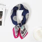 復古圍巾小方巾絲巾女韓國百搭職業裝飾空姐領巾 黛尼時尚精品