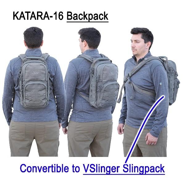 【限量黑迷彩】KATARA-16 單(雙) 肩二用背包