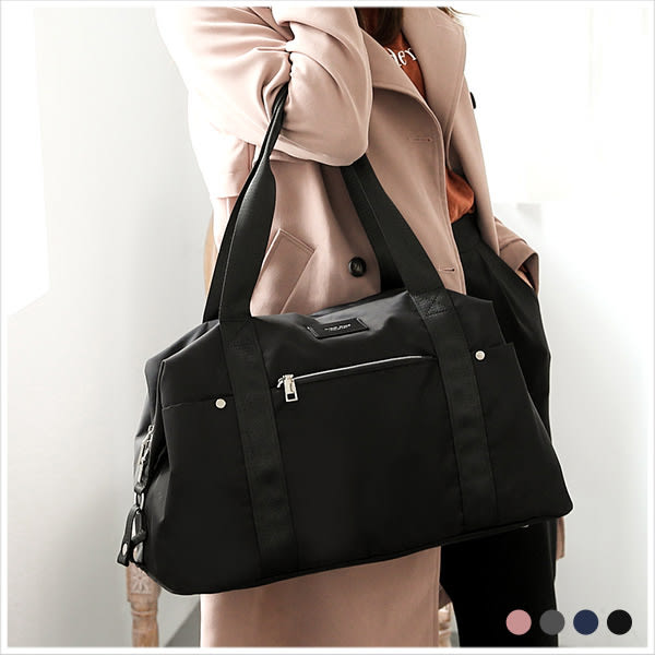 旅行袋-skyblue自訂輕旅行大容量尼龍旅行袋-共4色-A15152286-天藍小舖