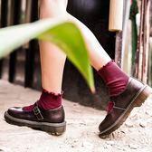 新年好禮 真皮大圓頭娃娃鞋軟妹少女單jk制服小皮鞋平底學院風復古瑪麗珍鞋 普斯達旗艦店