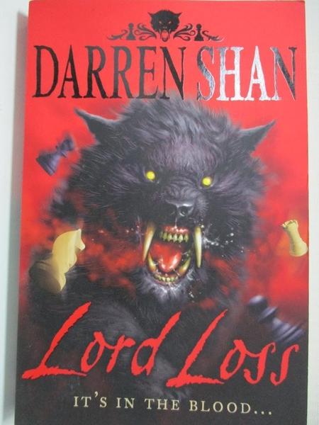 【書寶二手書T1/原文小說_GZ8】Lord Loss_Darren Shan_Shan, Darren, 向.達倫