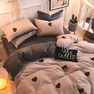 【限時下殺89折】雙人磨毛床罩四件組兩用被套 可裝冬被全棉冬季加厚法蘭絨被套床罩dj