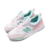 New Balance 復古慢跑鞋 997 NB 綠 粉紅 麂皮鞋面 運動鞋 女鞋【PUMP306】 CW997HBAB