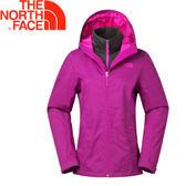 【The North Face 女款 DRYVENT兩件式保暖外套《桃紅/紫紅》】CVF7GZD/防水透氣/保暖刷毛★滿額送