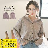 LULUS-E黑釦粉嫩配色格紋襯衫-2色  現【01032308】