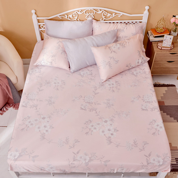 床包 / 單人【玫薇思】含一件枕套 60支天絲 戀家小舖台灣製AAU101