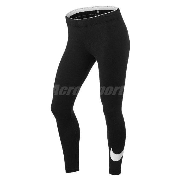 Nike 束褲 W NSW Legging 黑白 Just Do It 女 慢跑運動 內搭褲 緊身褲 【PUMP306】 815998-010
