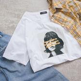 MUMU【T86192】沉默女孩字母舒適純棉短袖T恤