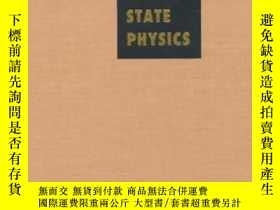 二手書博民逛書店Solid罕見State Physics: Advances In Research And Applicatio