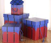 禮物盒吃雞零食盒大號正方形包裝盒生日新年禮品盒mandyc衣間