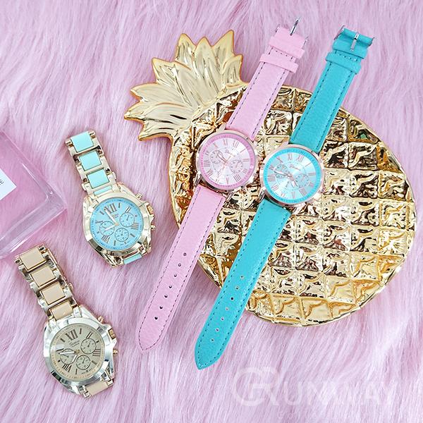【R】超值回饋現貨-流行錶款 時尚好搭 簡約 機械錶盤造型 潮錶 圓形錶盤 大圓 手錶