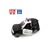 A&L奧麗迷你合金車 NO.157警車 滑行車 巡邏車 警務車 模型車(1:64)【楚崴玩具】