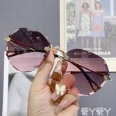 墨鏡時尚太陽鏡女2020年新款小臉太陽鏡女士防紫外線大臉顯瘦墨鏡女