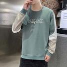 【型男精選任搭2件$888】 長袖T恤時尚簡約款拼接刺繡設計長袖T恤