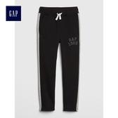 Gap男童 Logo印花抽繩鬆緊腰縮口褲 492877-正黑色