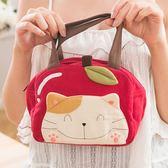 Kiro貓‧微笑貓蘋果造型手提包/便當袋/野餐袋/外出包【210701】