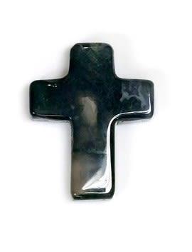 [協貿國際]天然水草瑪瑙十字架吊墜飾品配件(3入價)