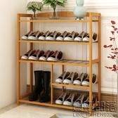 鞋架多層經濟型簡易家用鞋櫃楠竹收納架組裝現代簡約防塵置物架子  快速出貨