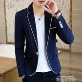 西服男2020秋季新款韓版帥氣潮流修身休閒夜場發型師小西裝男外套 依凡卡時尚