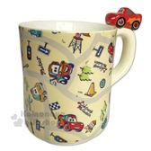 〔小禮堂〕迪士尼 閃電麥坤 造型陶瓷馬克杯《米.杯邊玩偶》260ml.咖啡杯.精緻盒裝 4942423-24496